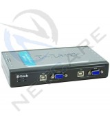 DKVM4U 4-PORT PS/2 KVM SWITCH With Cables